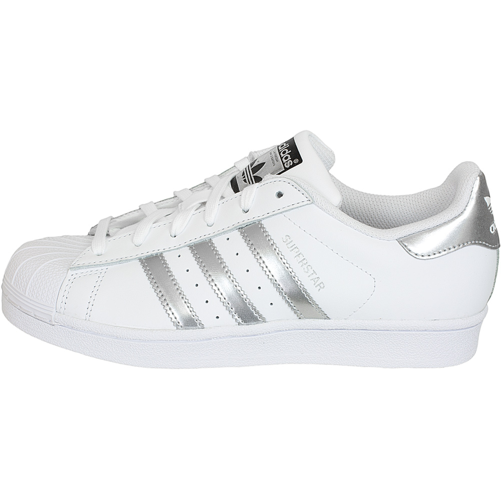 ☆ Adidas Originals Damen Sneaker Superstar weiß/silber ...