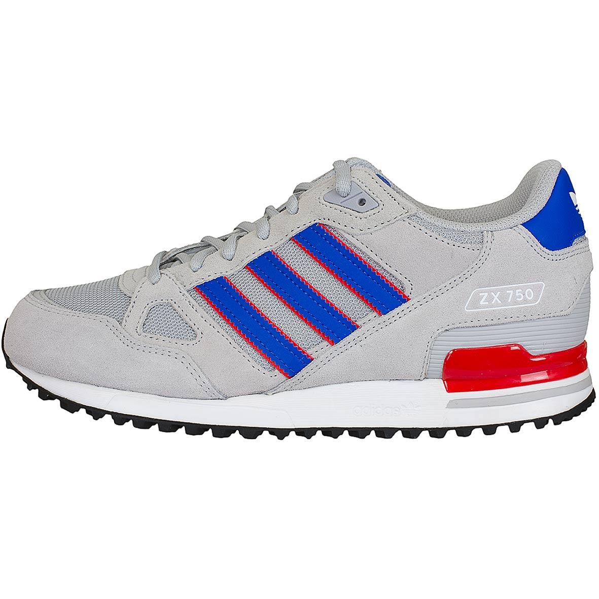 look for best place exclusive shoes ☆ Adidas Originals Sneaker ZX 750 grau/blau - hier bestellen!