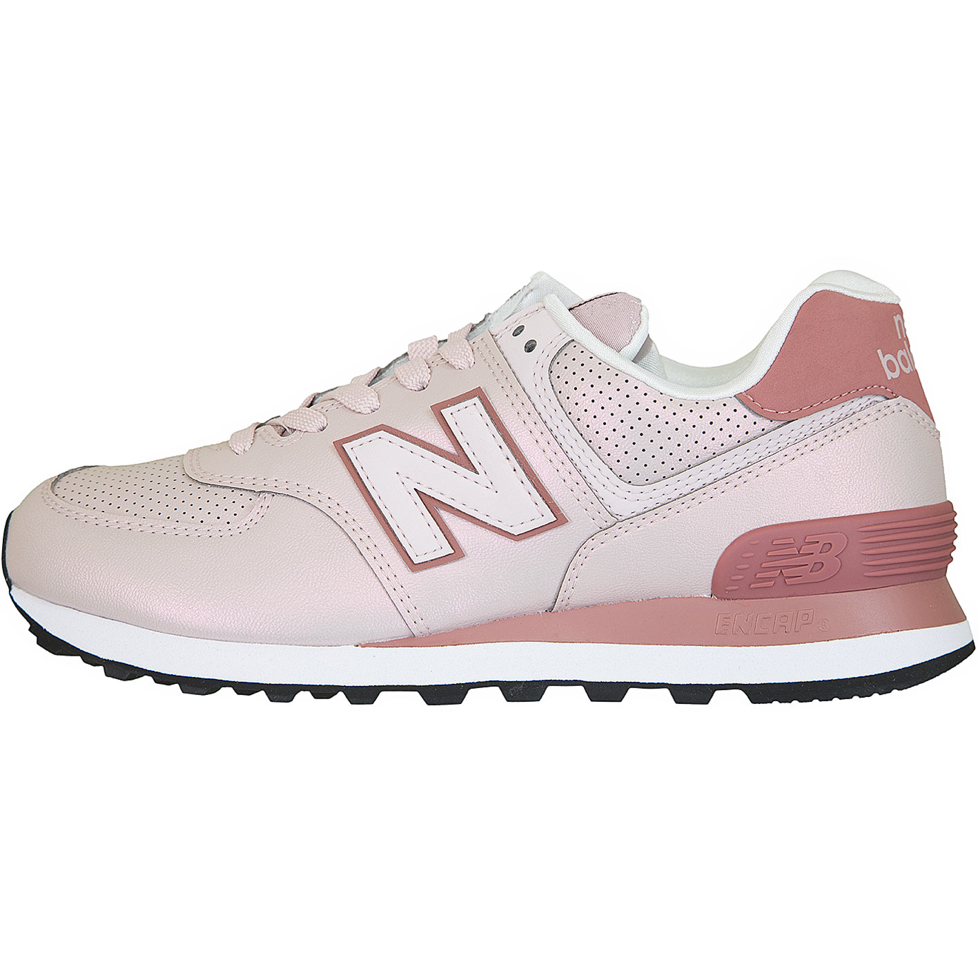 New Balance Damen Sneaker 574 Synthetik/Leder rosa