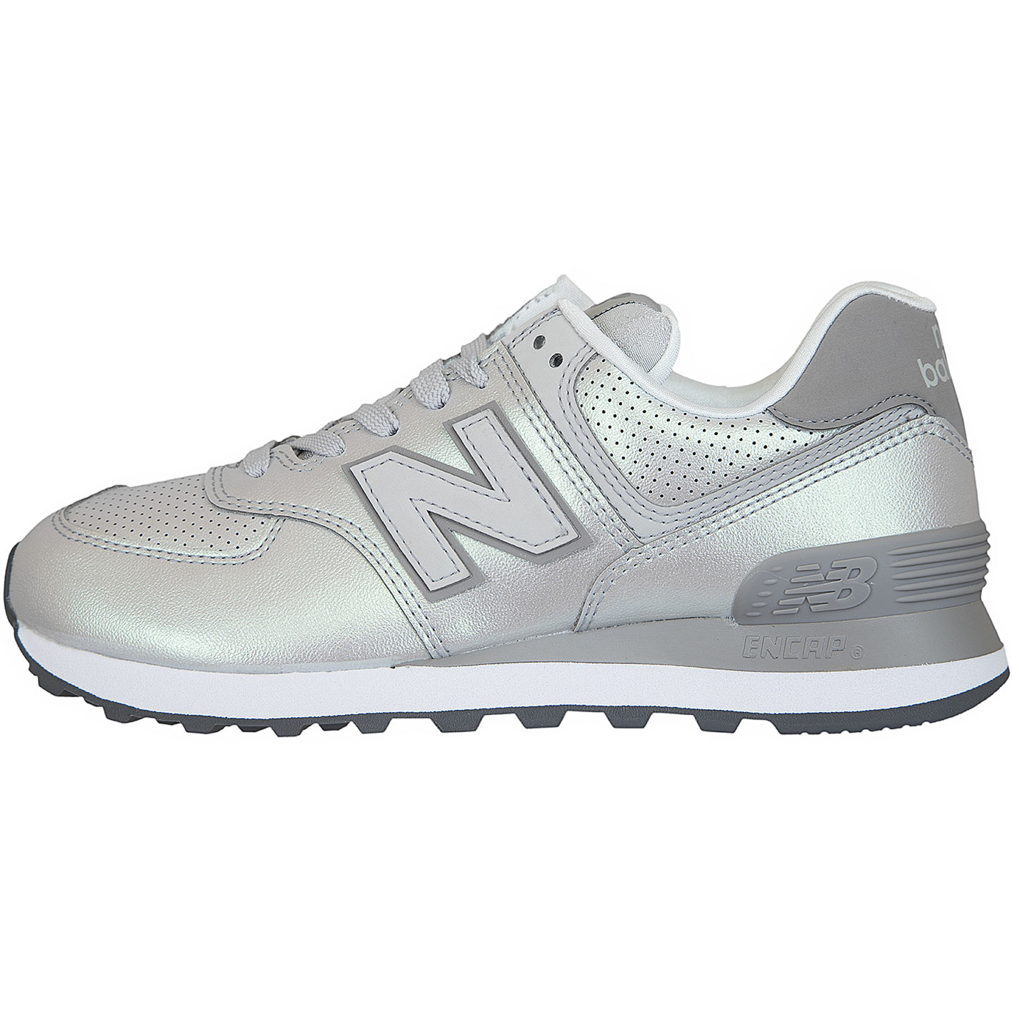 ☆ New Balance Damen Sneaker 574 Synthetik/Leder silber ...