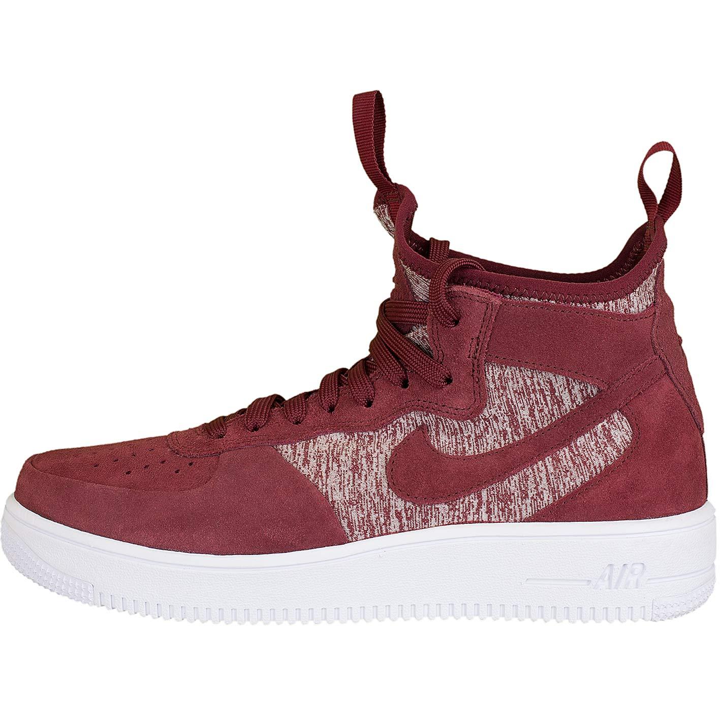 Nike Sneaker Air Force 1 UF Mid Premium rotweiß