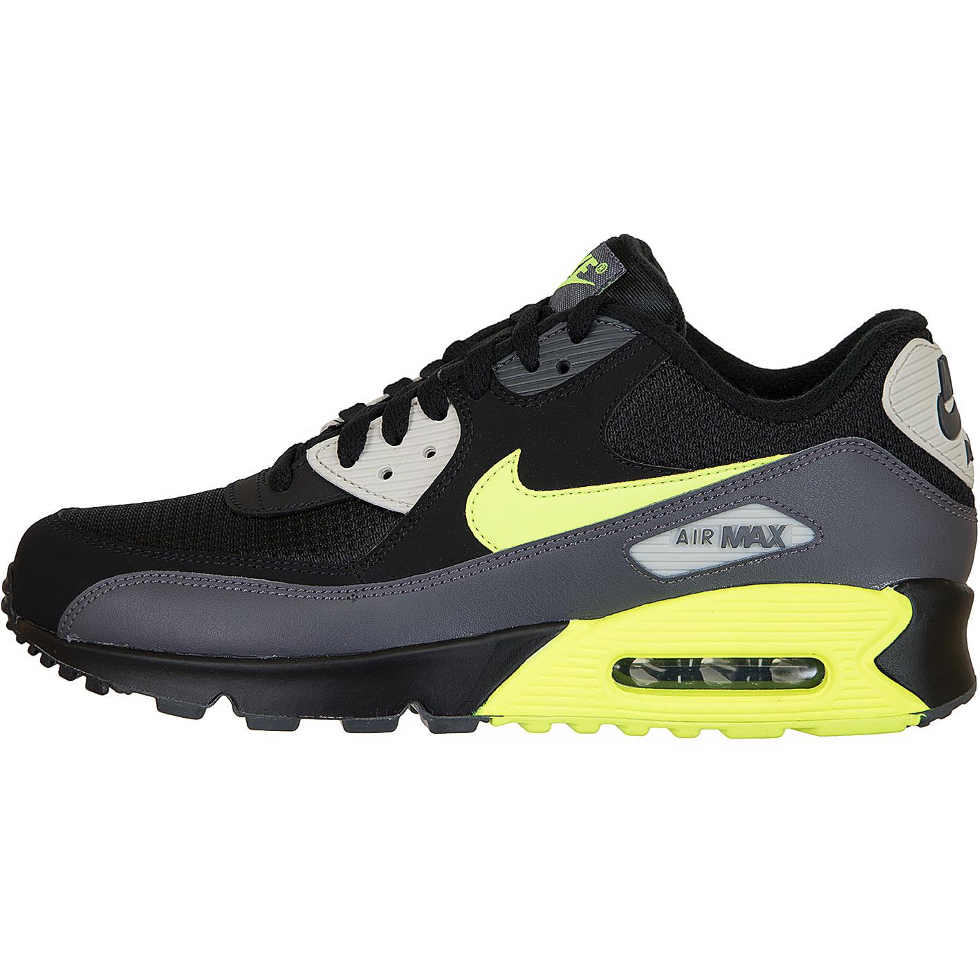 ☆ Nike Sneaker Air Max 90 Essential grauschwarzgelb
