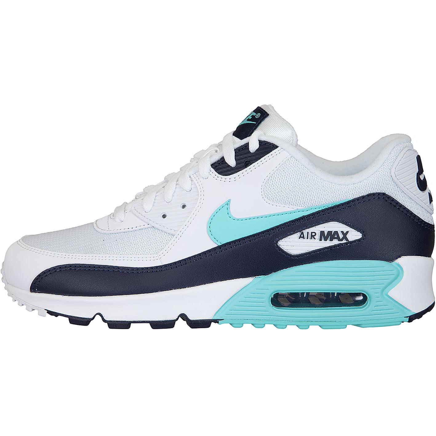 ☆ Nike Sneaker Air Max 90 Essential weißdunkelblautürkis
