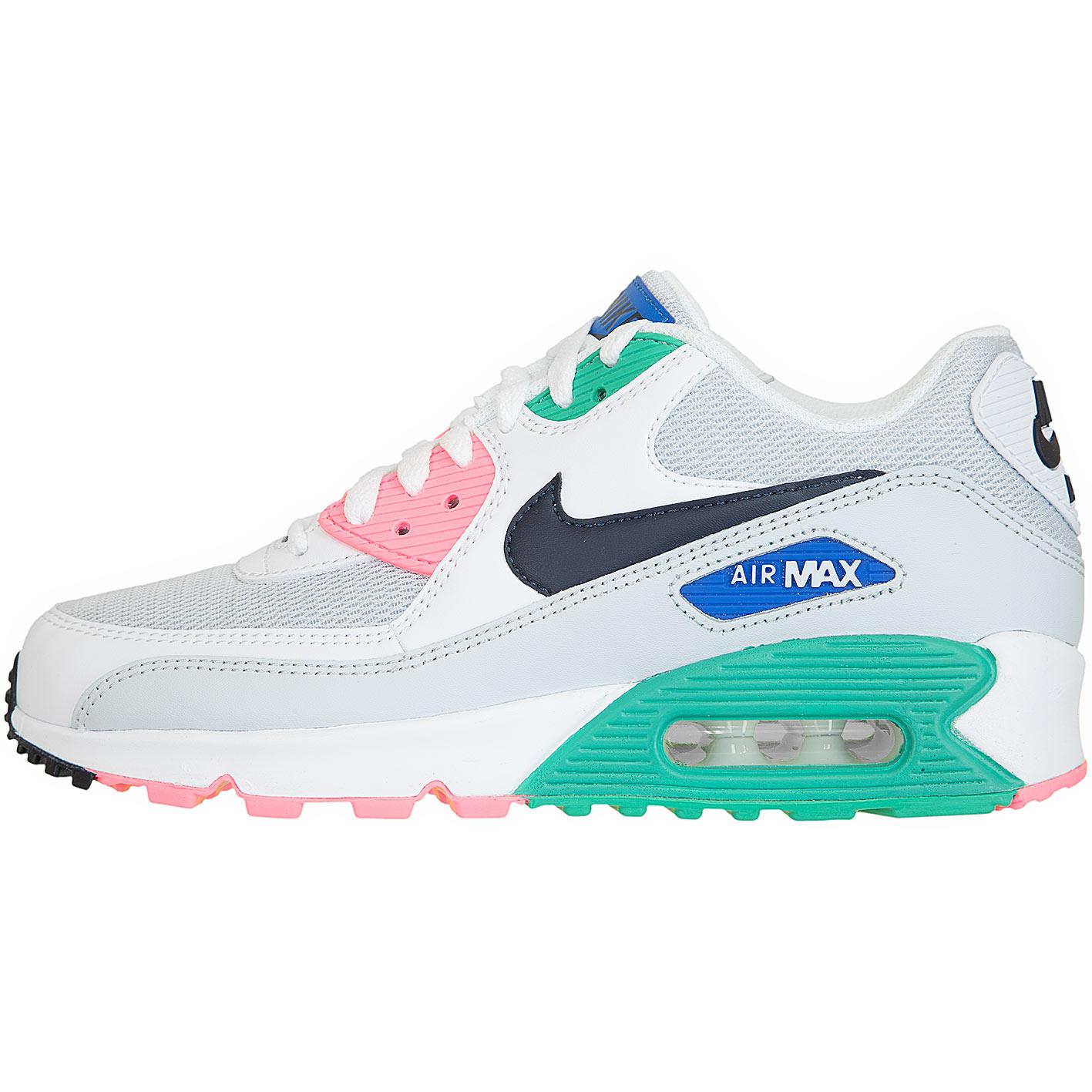 b309db2e56 ☆ Nike Damen Sneaker Air Max 90 Essential weiß/pink/grün - hier ...