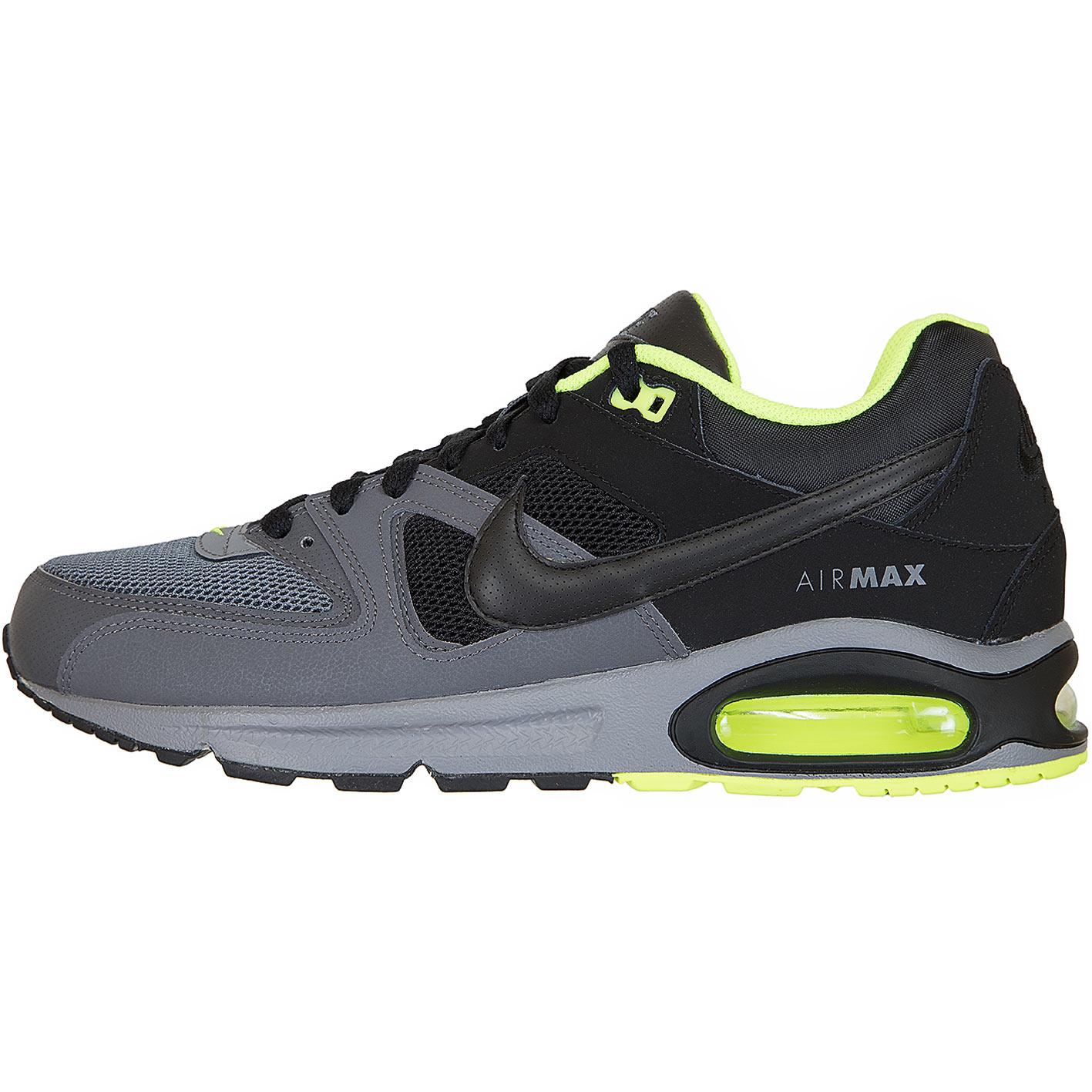 Nike Herren GRAU SCHWARZ NEONGELB Sneaker AIR MAX COMMAND