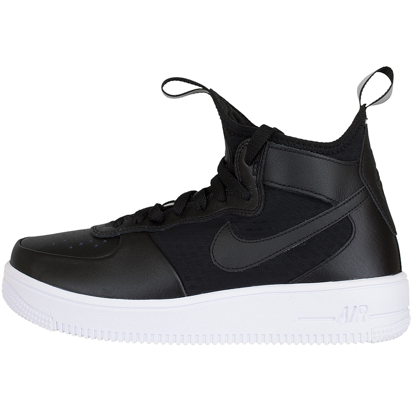 nike damen sneaker air force 1 uf mid schwarz schwarz. Black Bedroom Furniture Sets. Home Design Ideas