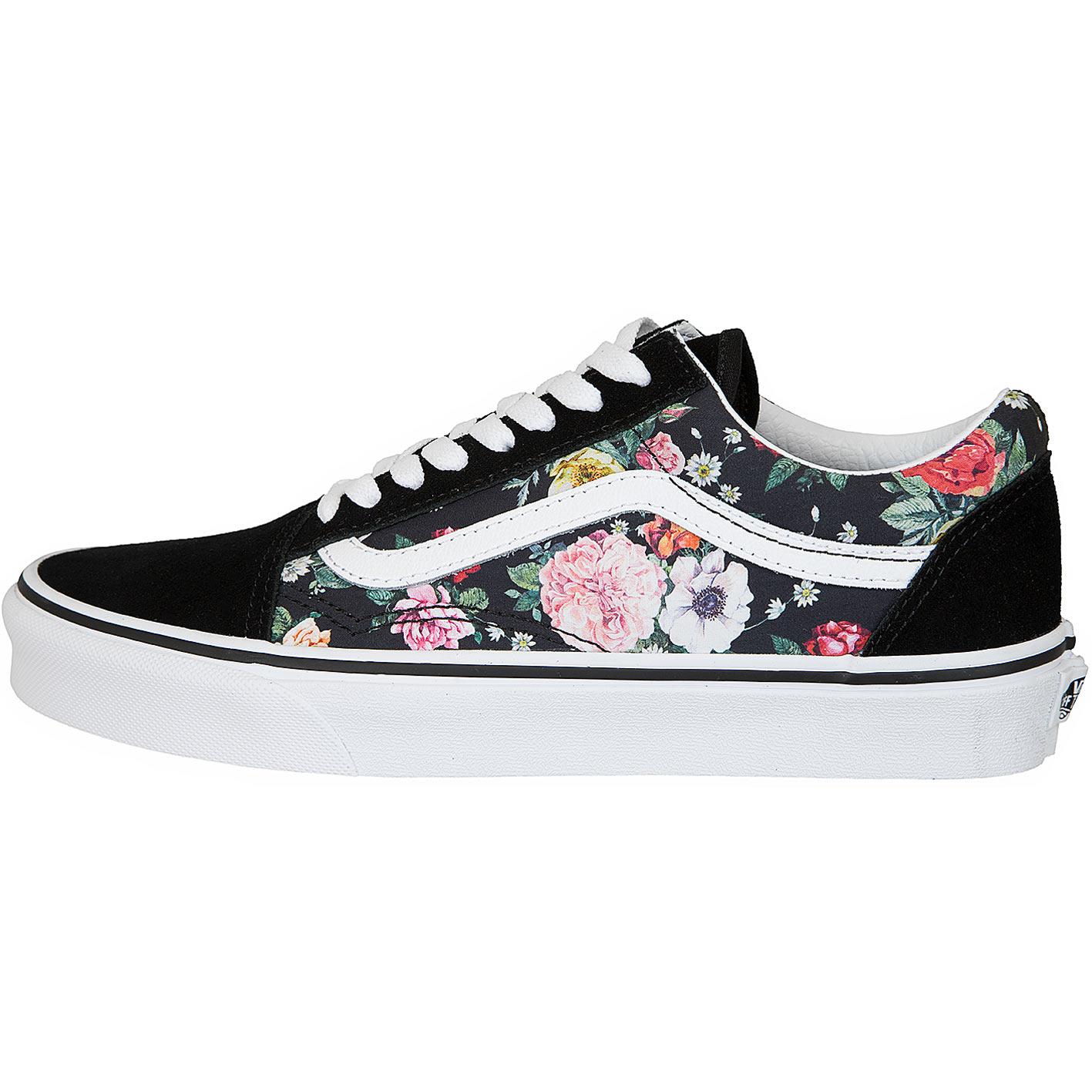 info for cbf5f dd239 Vans Damen Sneaker Old Skool Garden Floral schwarz/weiß