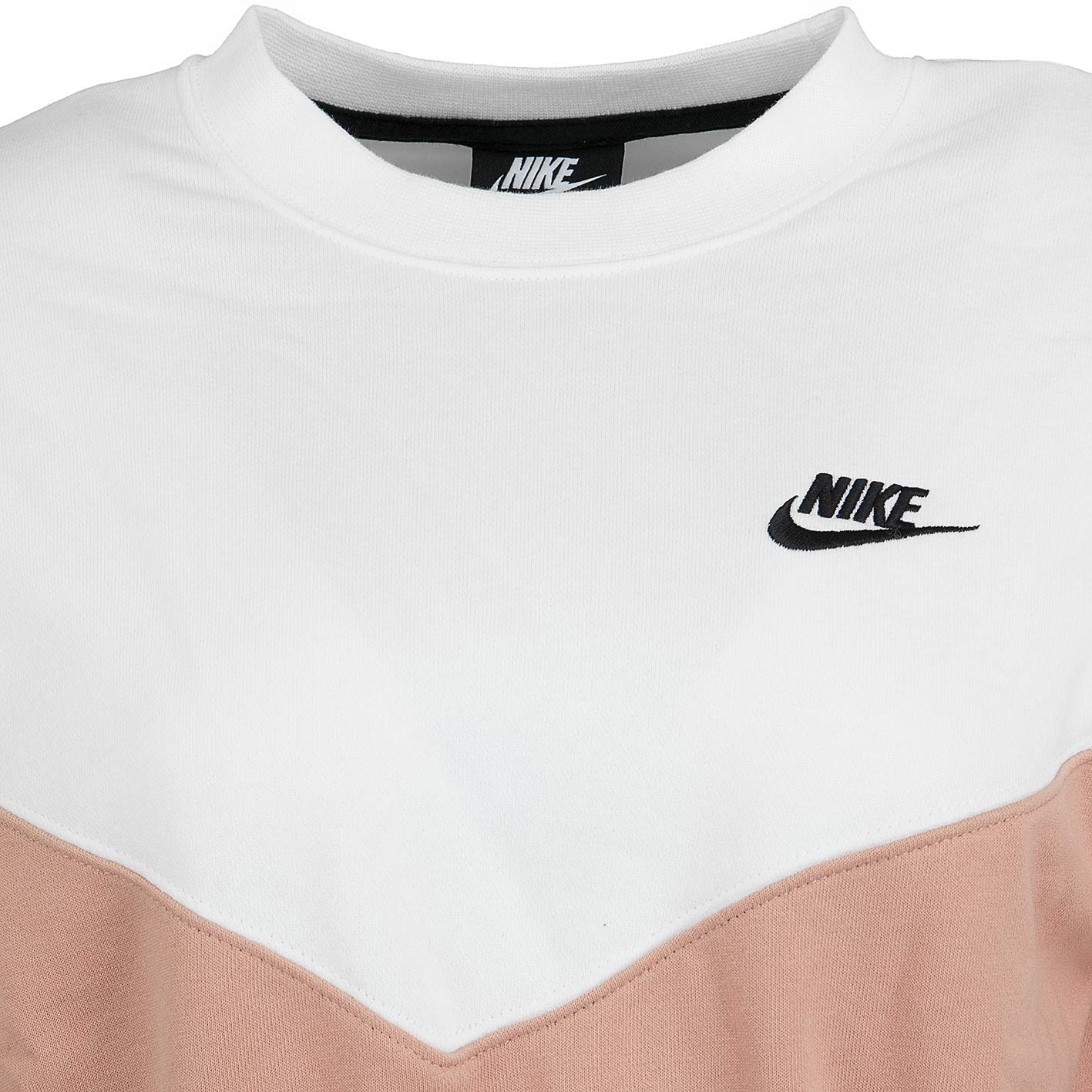 new style 945af c0e6d Nike Damen Sweatshirt Heritage Fleece rosa/sail