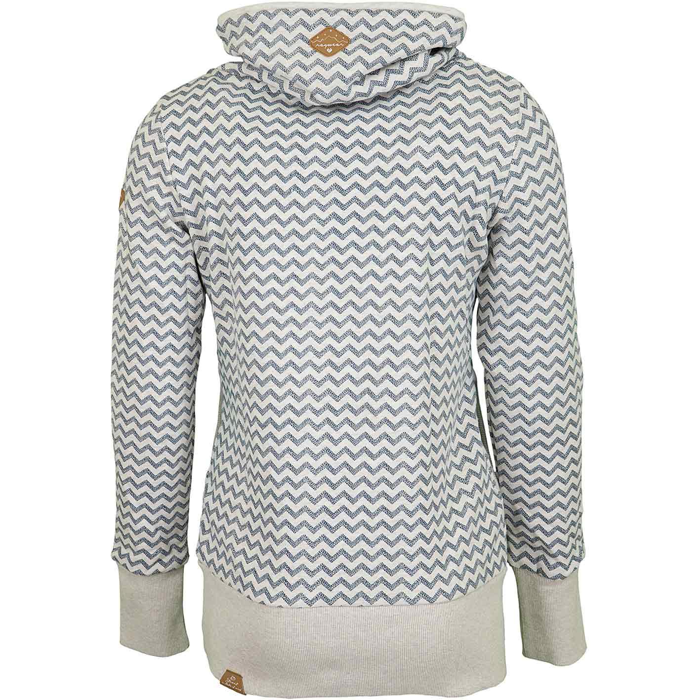 Ragwear Damen Sweatshirt mit hohem Kragen ANGEL Zig Zag beige
