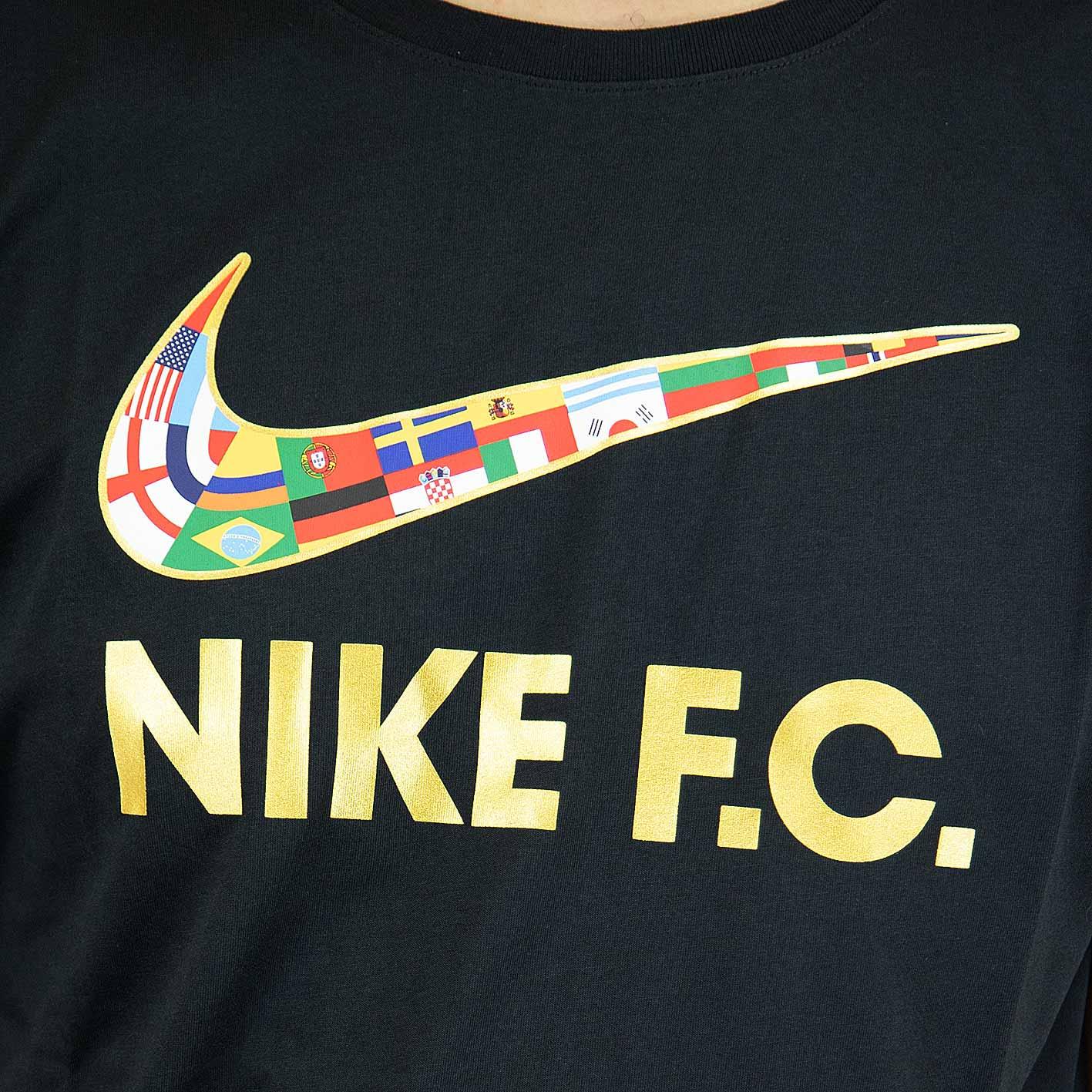 discount wholesale online united kingdom ☆ Nike T-Shirt F.C. Swoosh Flag schwarz/gold - hier bestellen!