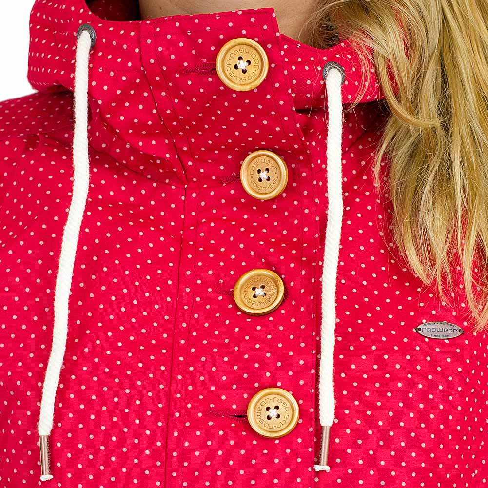 ragwear damen jacke lynx dots rot hier bestellen. Black Bedroom Furniture Sets. Home Design Ideas