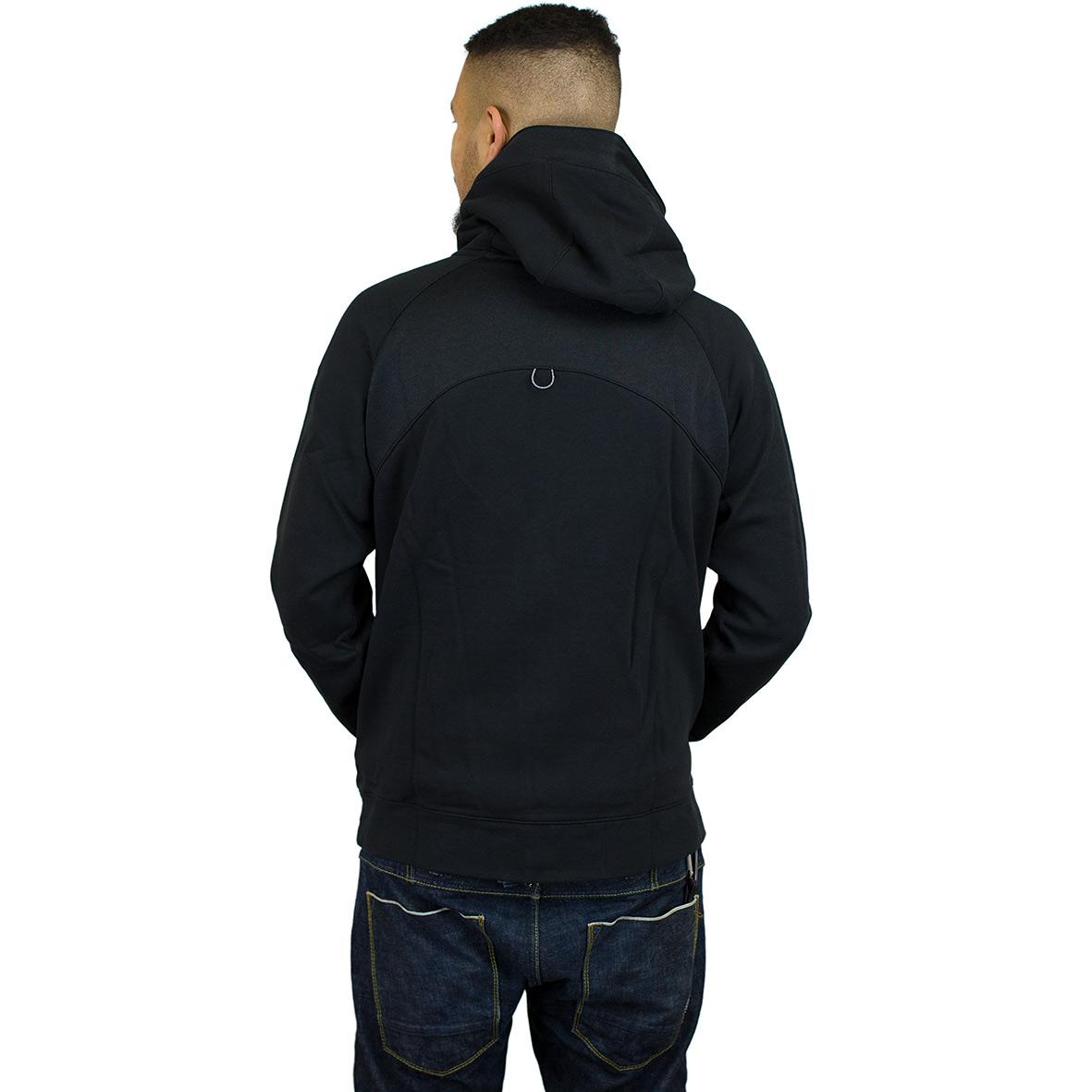 nike hoodie fullzip schwarz wei hier bestellen. Black Bedroom Furniture Sets. Home Design Ideas