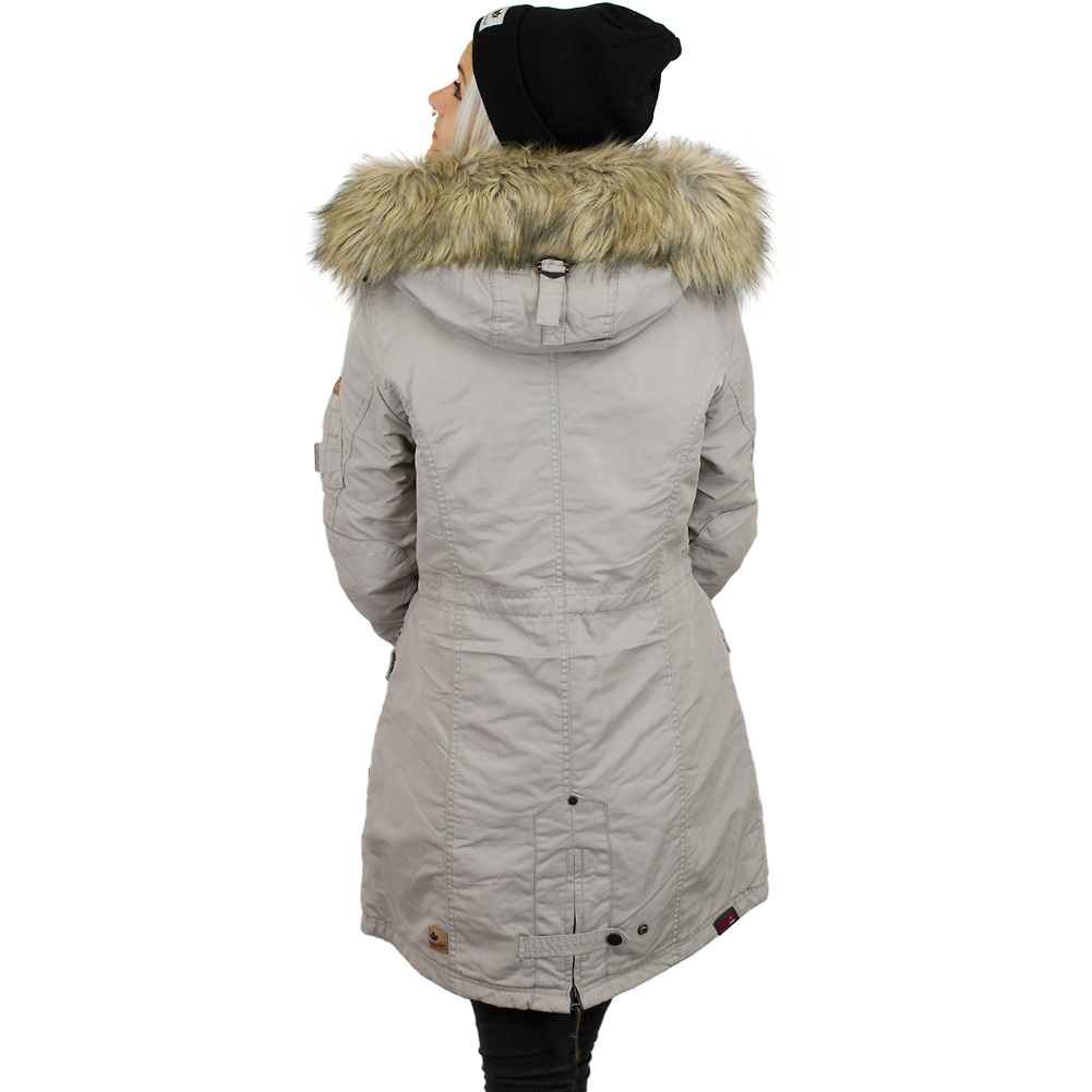 Khujo jacke damen winter grau