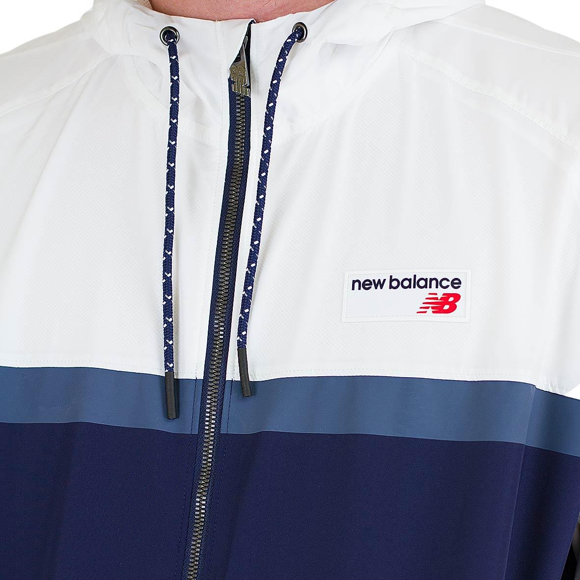 ☆ New Balance Windbreaker Athletics 78 weiß/dunkelblau - hier ...