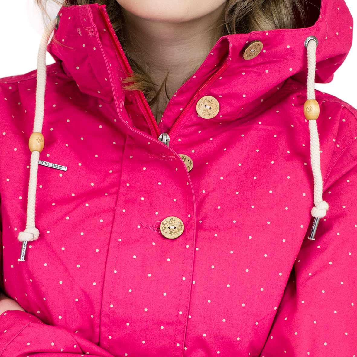 ☆ Ragwear Damen Übergangsjacke Lynx Dots pink hier bestellen!