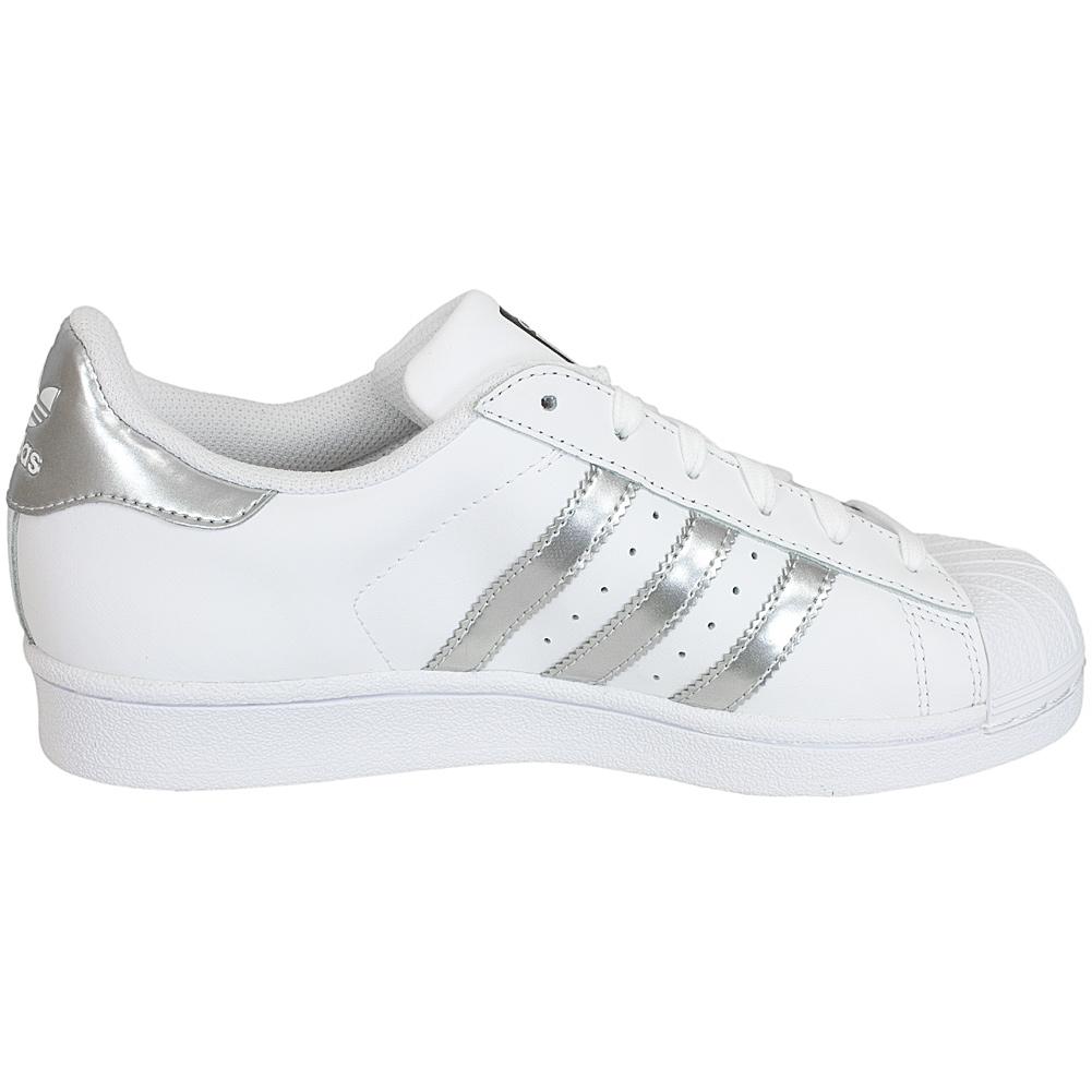 adidas damen sneakers superstar silber