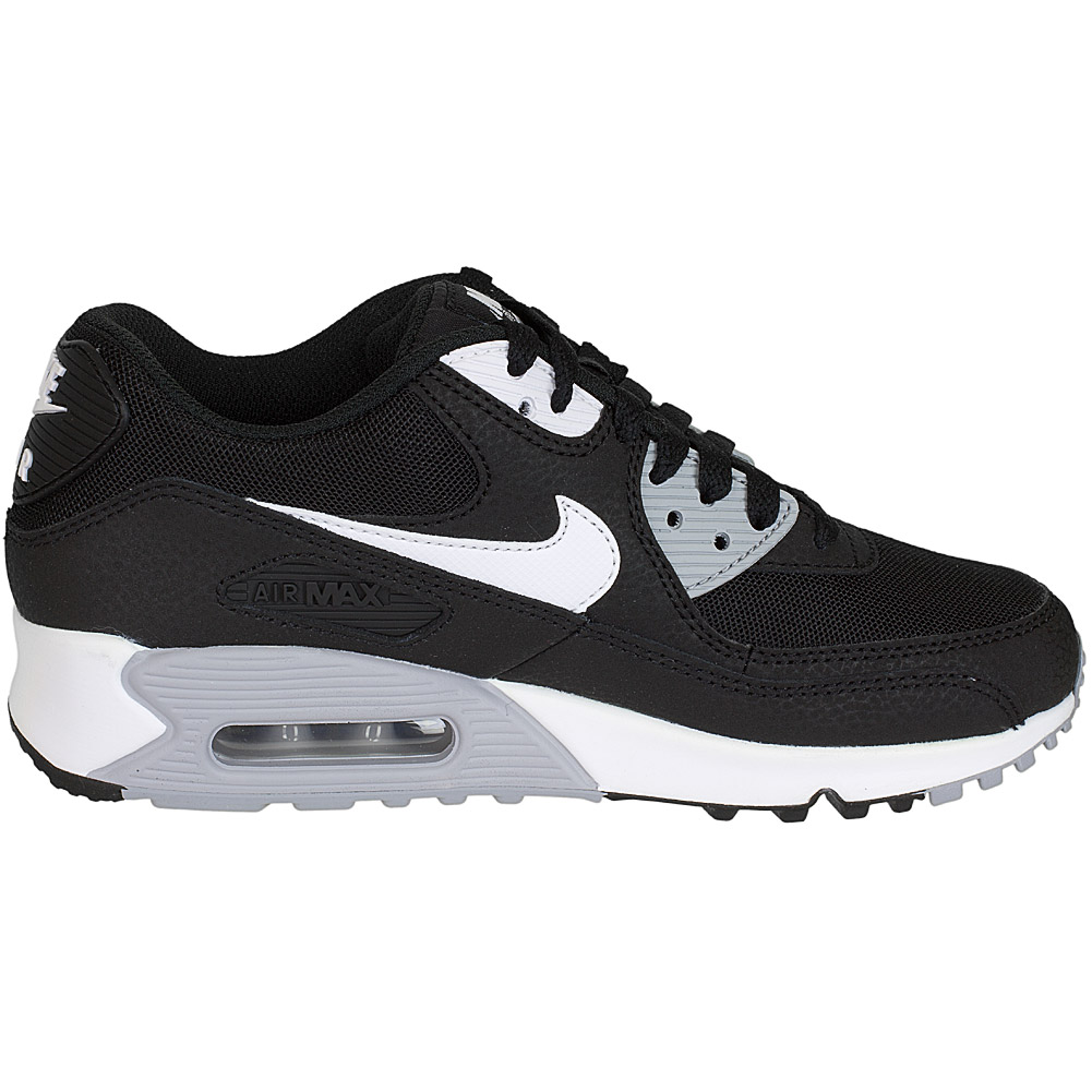 nike damen sneaker air max 90 essential schwarz wei grau. Black Bedroom Furniture Sets. Home Design Ideas