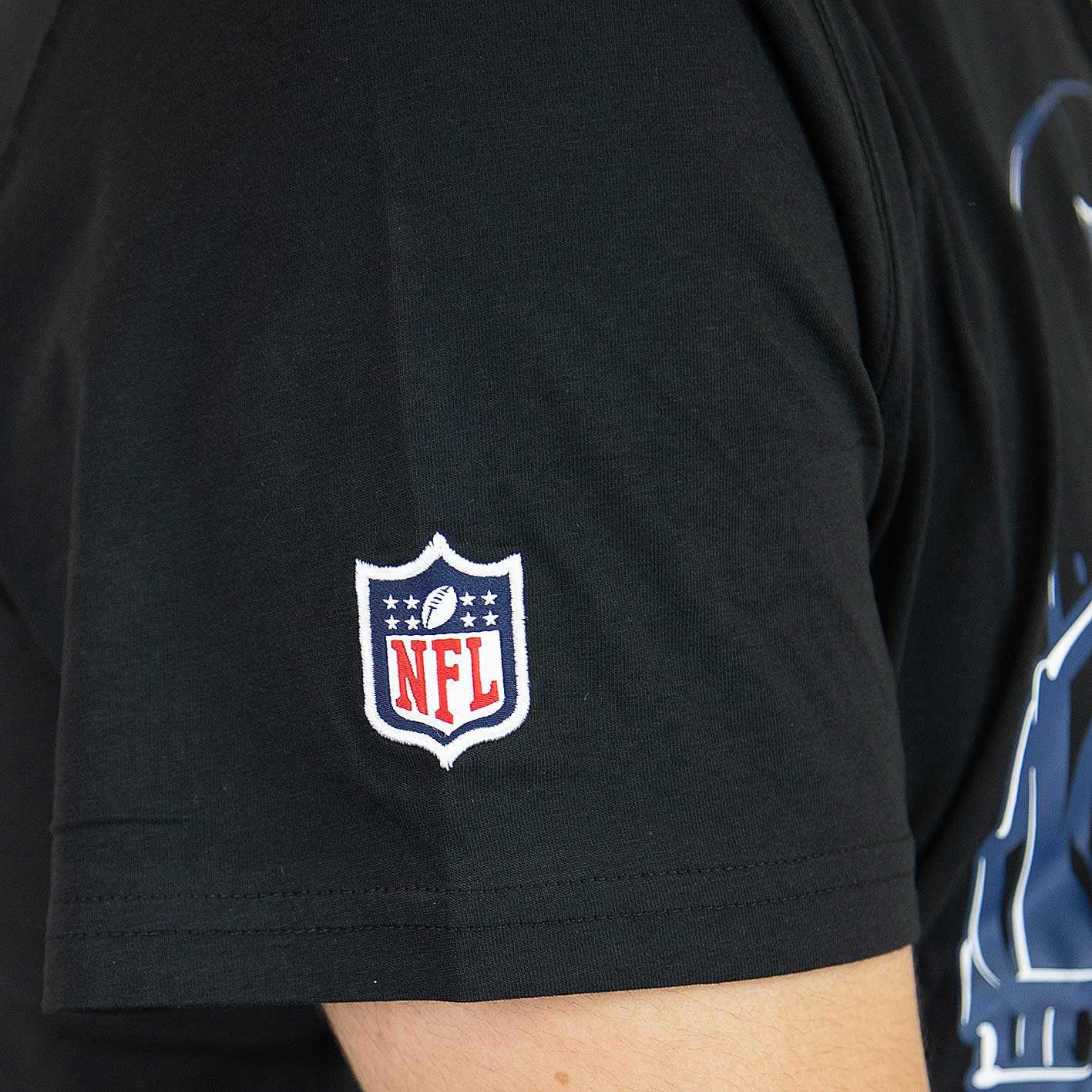 New Era T Shirt Nfl Headshot Seattle Seahawks Schwarz