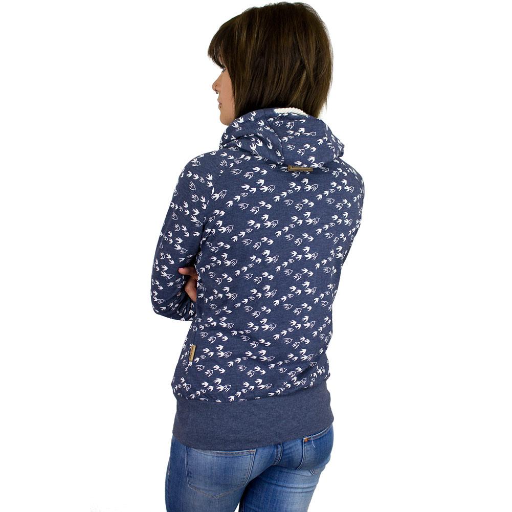 naketano damen hoodie mandy will v gel n ii blaugrau. Black Bedroom Furniture Sets. Home Design Ideas