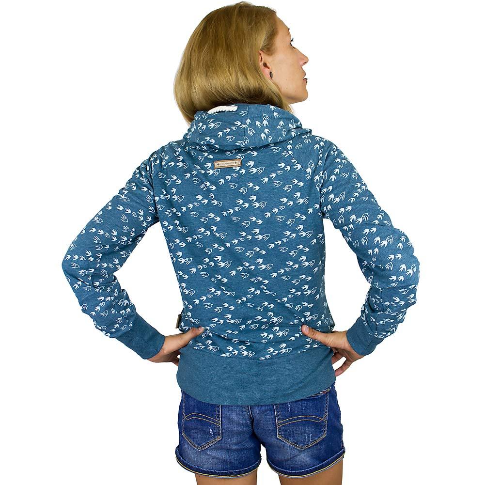 naketano damen hoodie mandy will v gel n ii blaugr n. Black Bedroom Furniture Sets. Home Design Ideas