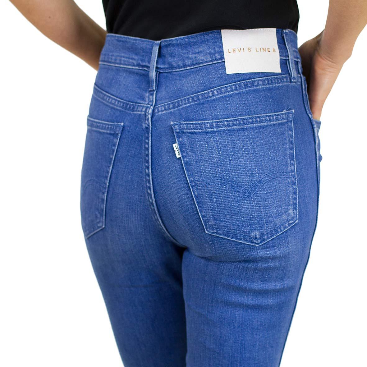 buy popular 69362 5352f Levis Damen Jeans L8 High Skinny Surf blau