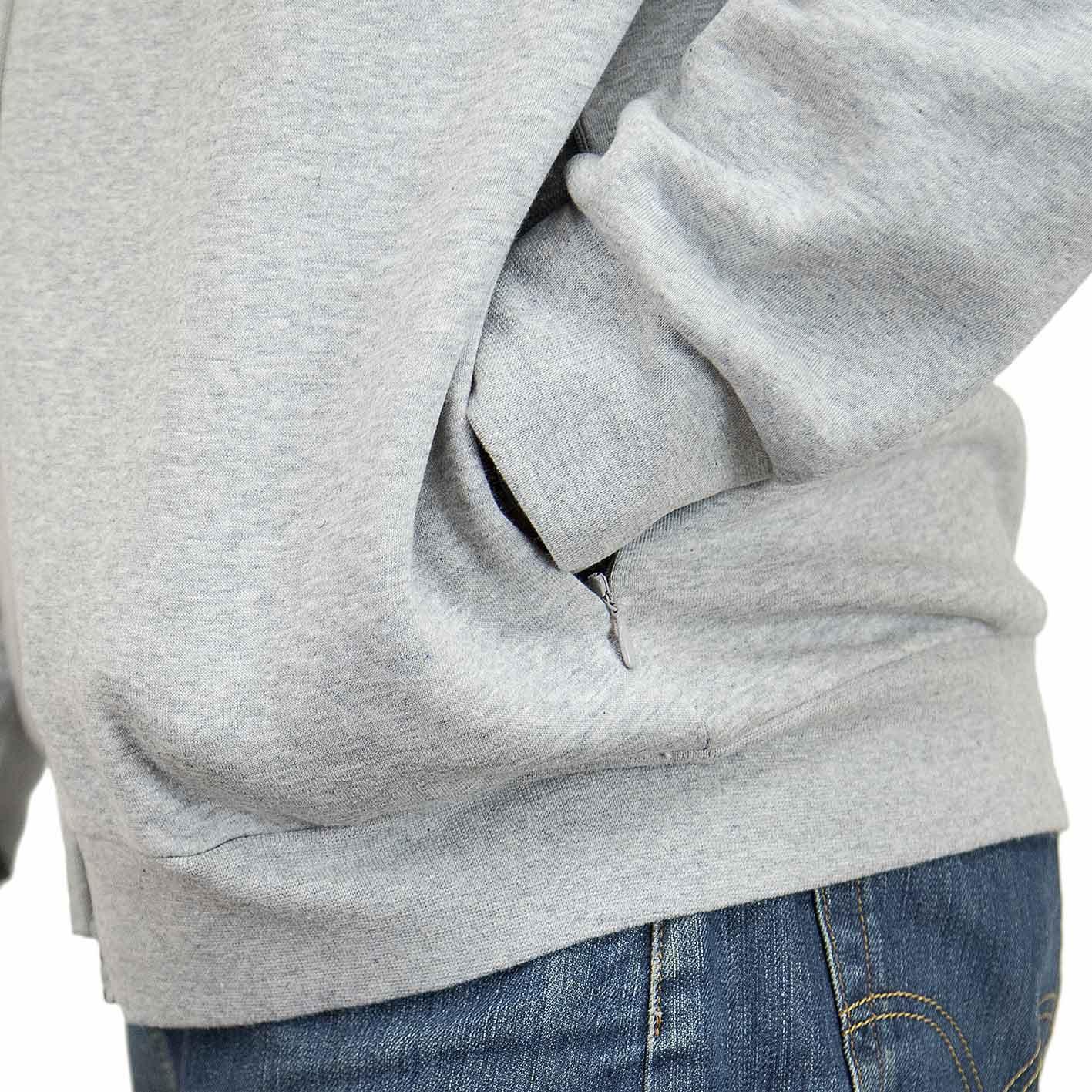 Adidas Originals Zip Hoody Trefoil Fleece grau
