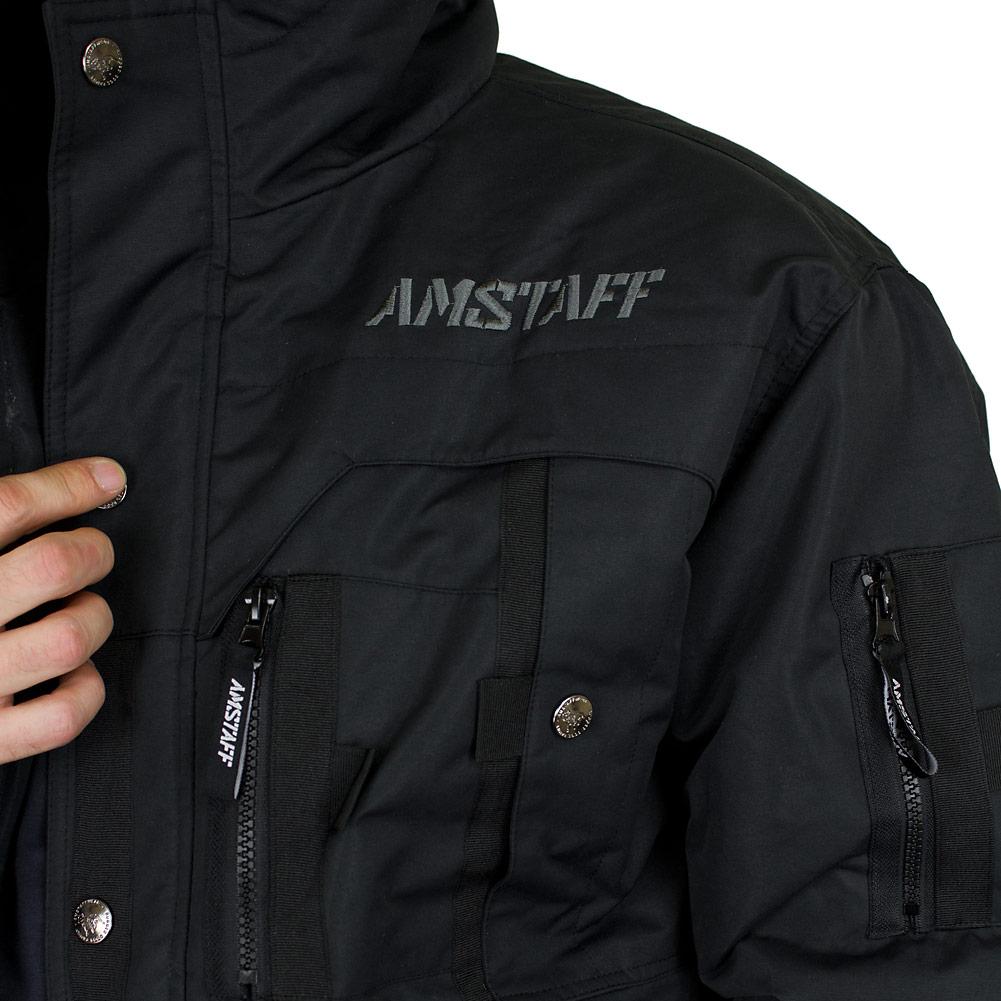 Amstaff winterjacke schwarz