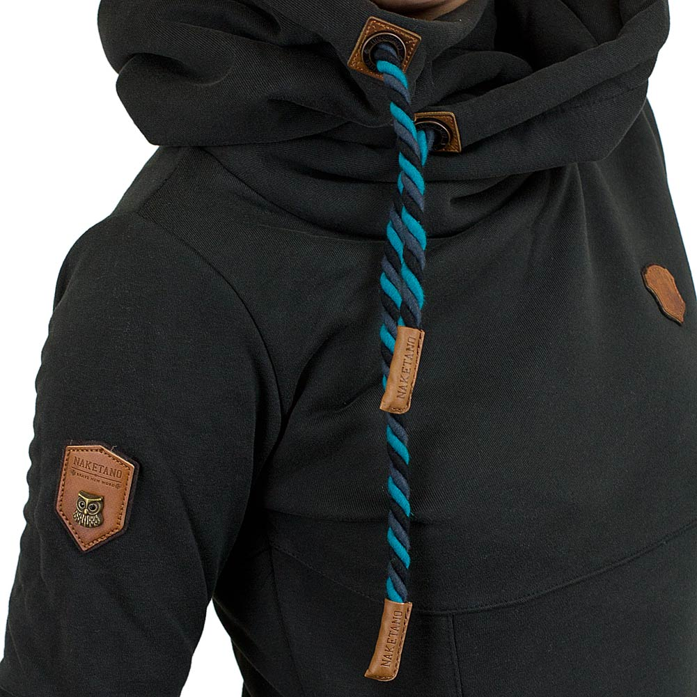 naketano damen hoodie lange viii schwarz hier bestellen. Black Bedroom Furniture Sets. Home Design Ideas