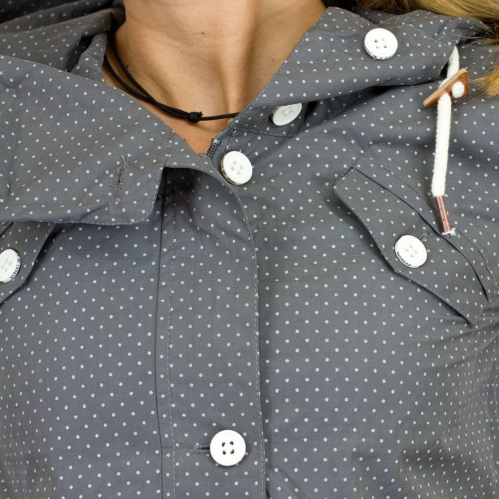 Ragwear damen jacke clancy dots