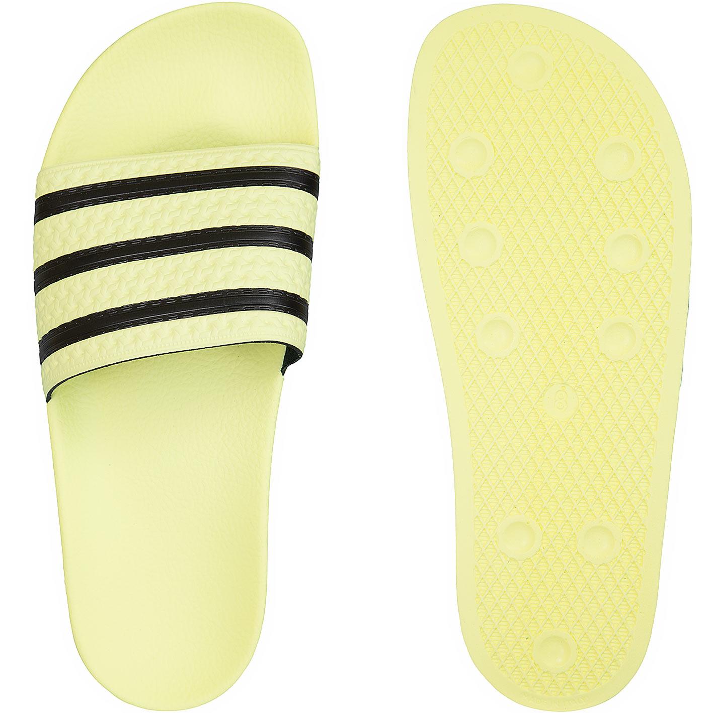 ☆ Adidas Originals Damen Badelatschen Adilette gelb/schwarz ...