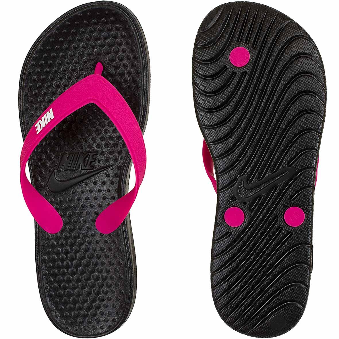 ☆ Nike Damen Flip-Flops Solay Thong schwarz pink - hier bestellen! ee6812fd0c