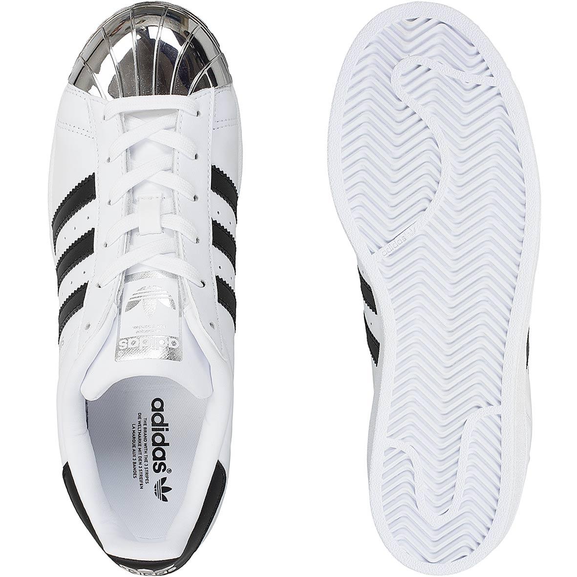 a7b1d68564ee ☆ Adidas Originals Damen Sneaker Superstar Metal Toe weiß schwarz ...