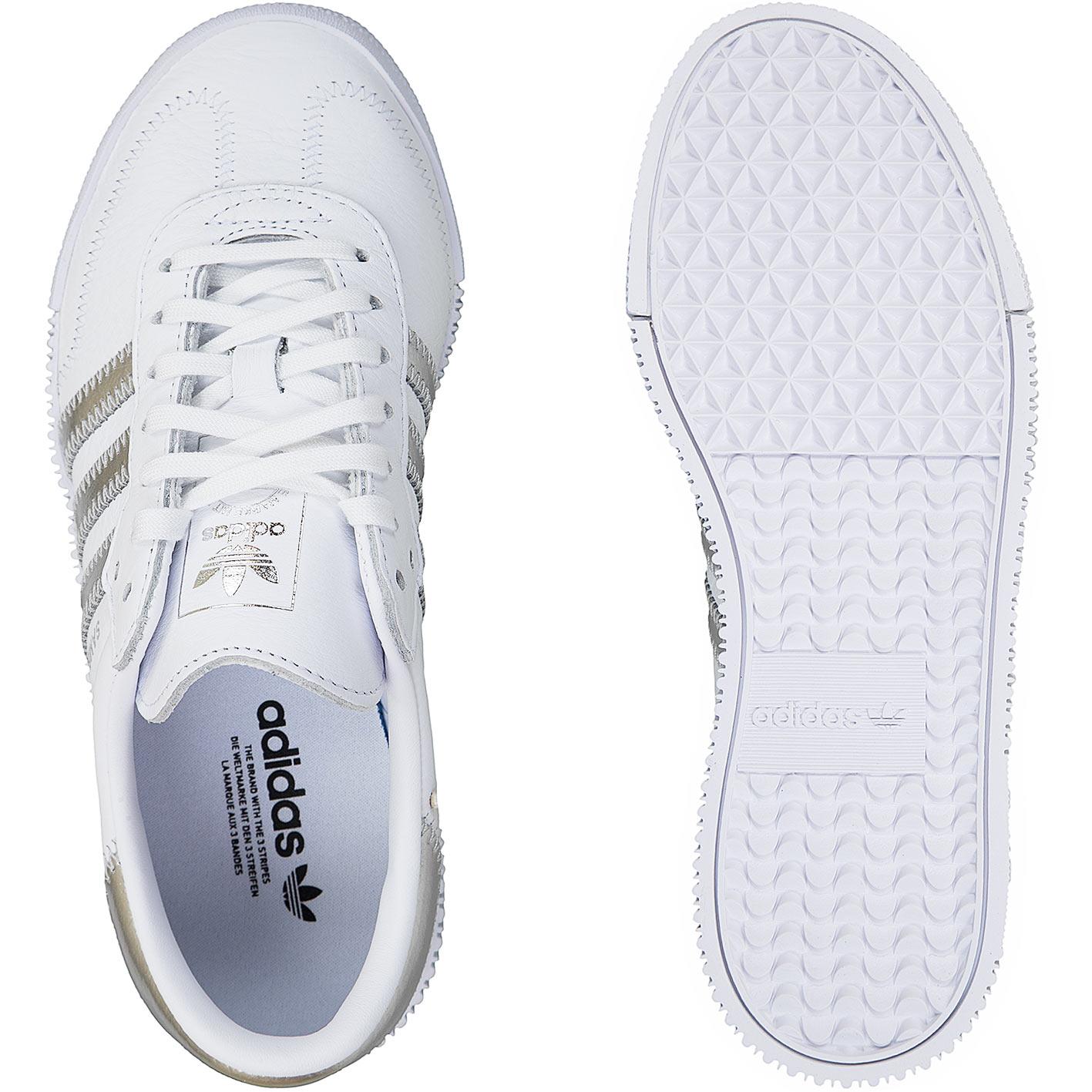 schuhe adidas weiß mit silber streifen