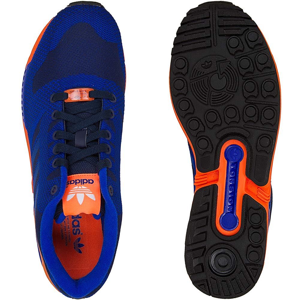 adidas zx flux blau orange