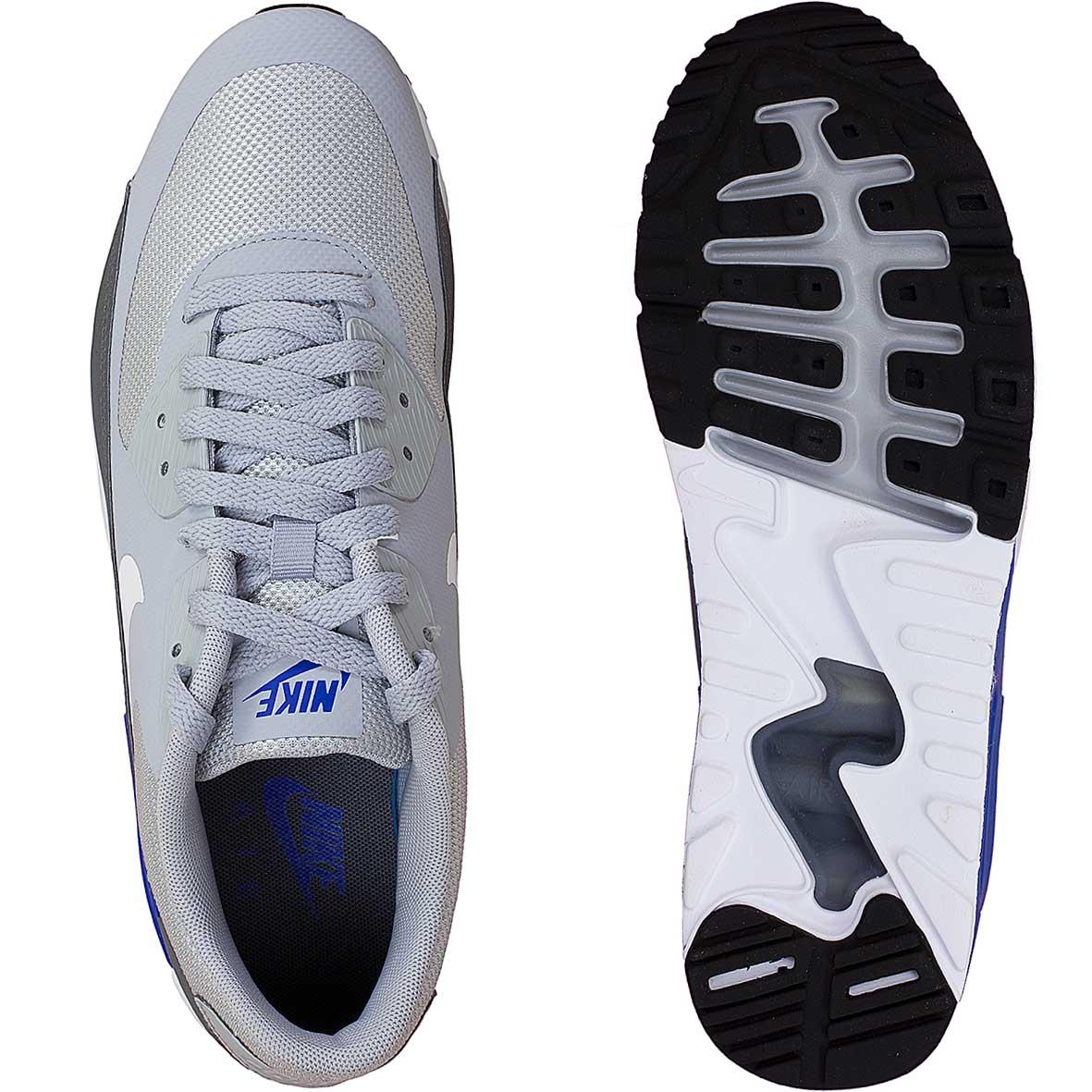 Nike Herren Air Max 90 Ultra 2.0 Essential Grau Kunstleder