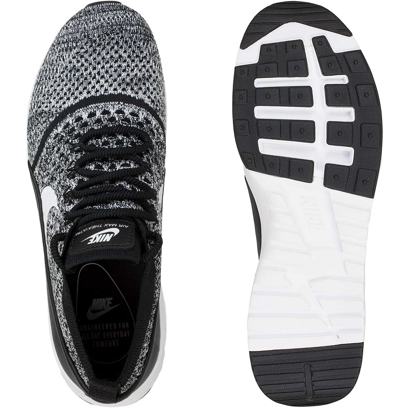 Nike Damen Sneaker Air Max Thea Ultra Flyknit schwarzweiß