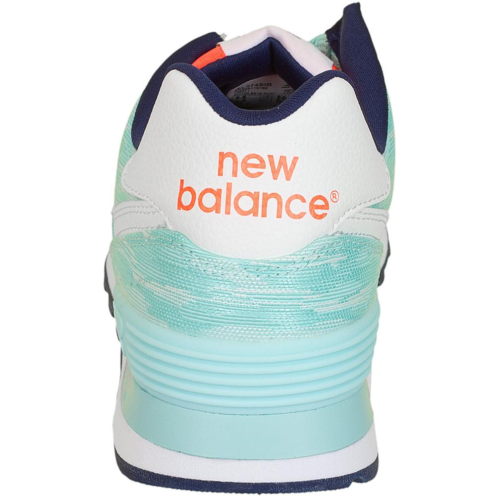 new balance damen sneaker wl 574 b q2 canvas pu gr n. Black Bedroom Furniture Sets. Home Design Ideas