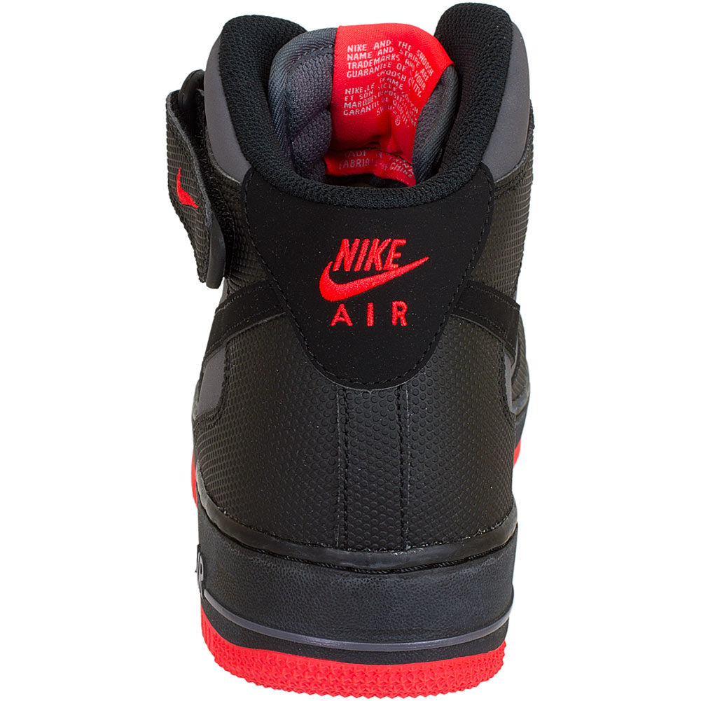 nike air force 1 schwarz rot design im. Black Bedroom Furniture Sets. Home Design Ideas