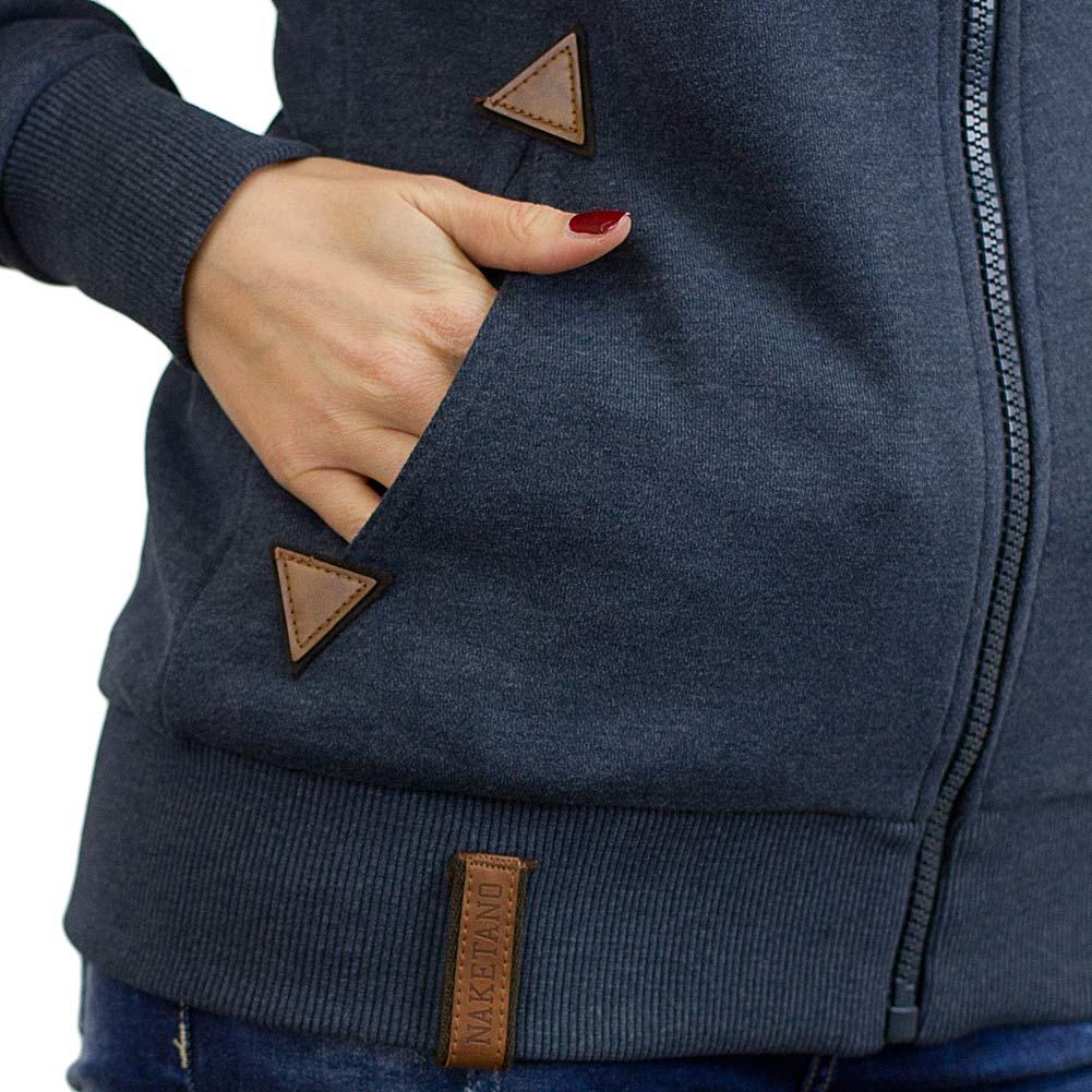 4d4bb230b366 ☆ Naketano Damen Zip-Hoodie Blonder Engel dunkelblau - hier bestellen!