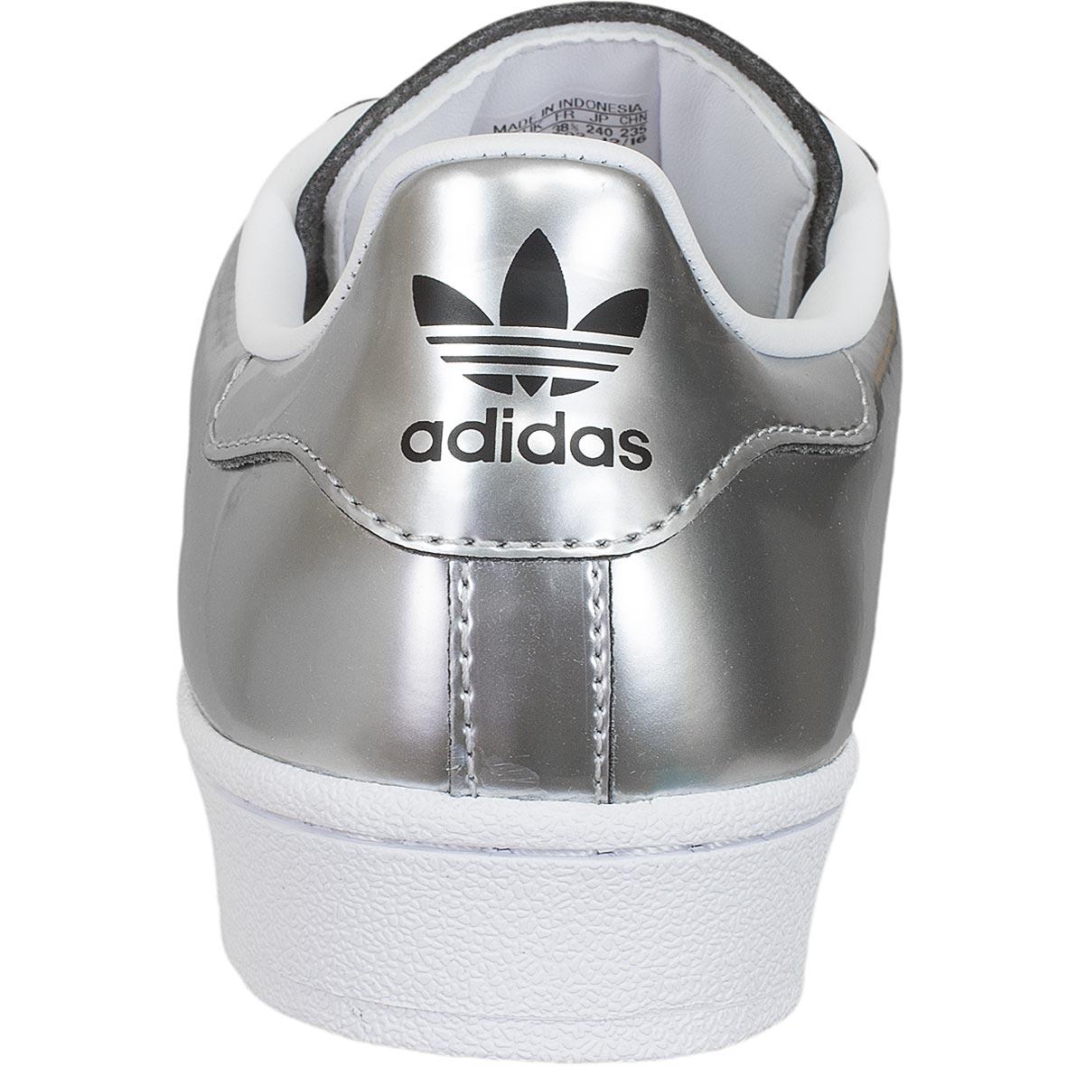 adidas damen superstar sneakers silber