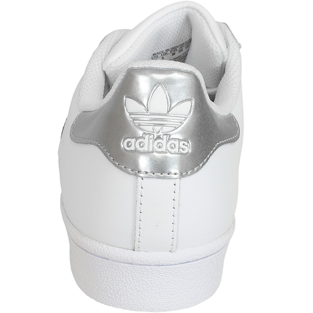 adidas originals damen sneaker superstar wei silber. Black Bedroom Furniture Sets. Home Design Ideas