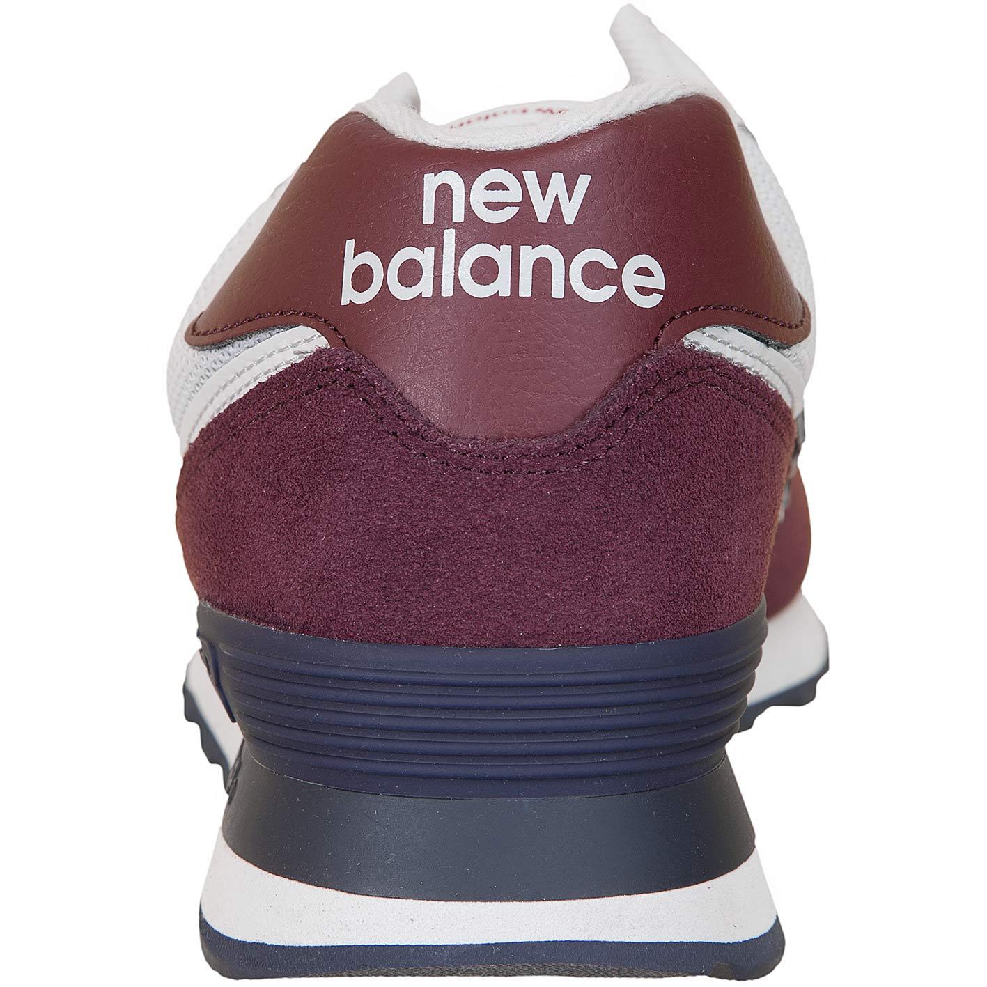 the best attitude fcaf6 0338a New Balance Sneaker 574 Wildleder/Mesh weinrot