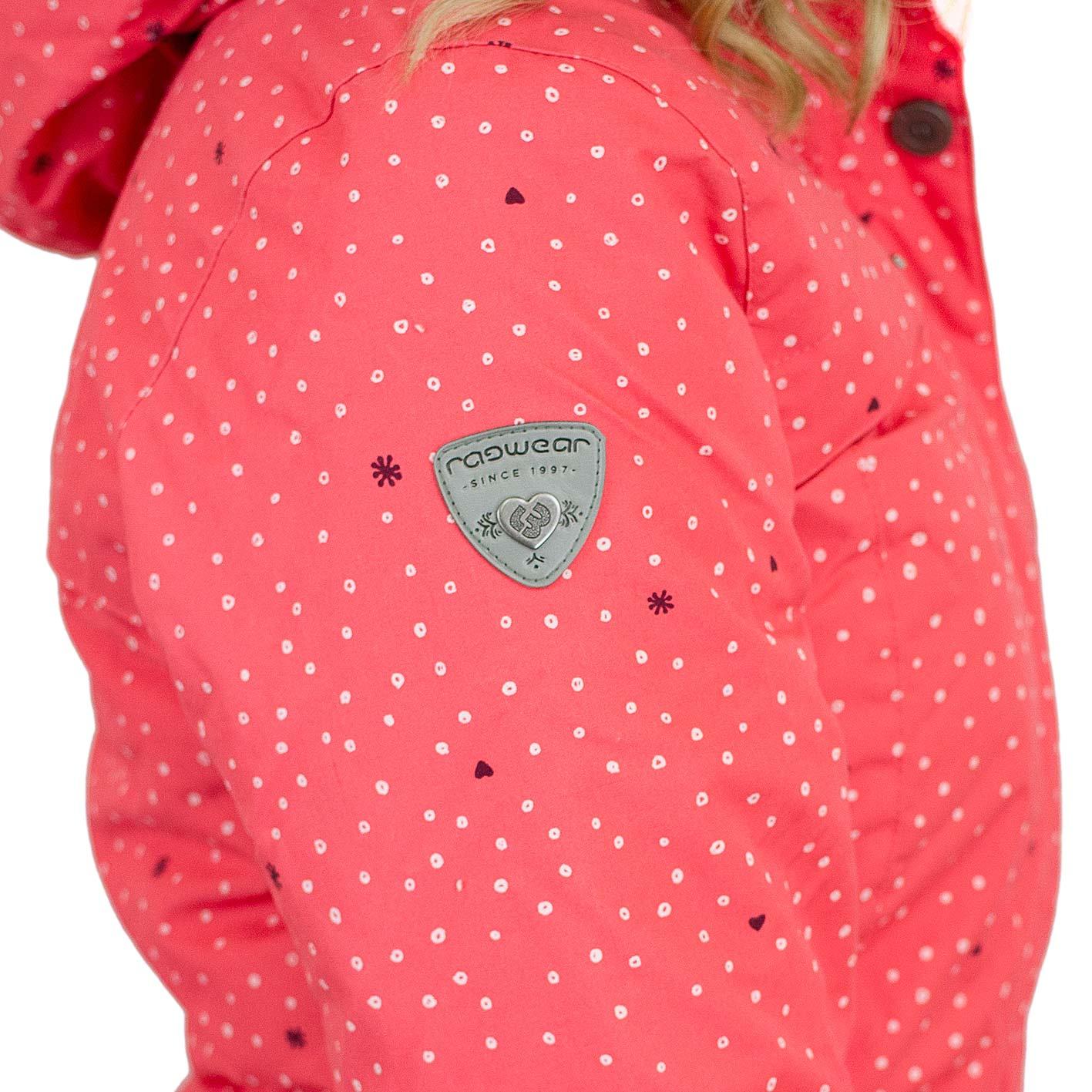 Ragwear Damen Jacke Jewel Hearts coral